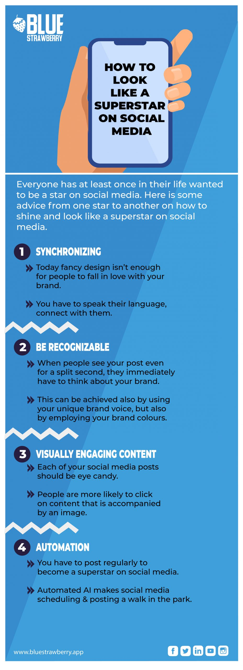 How to look like a superstar on social media infographic